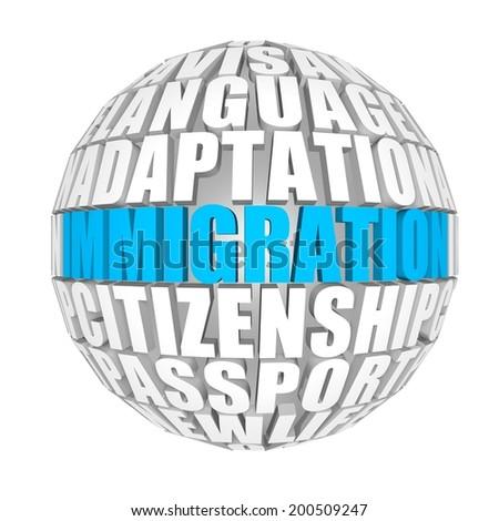 Immigration. - stock photo