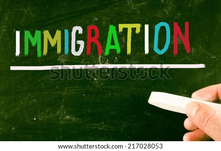 immigration concept - stock photo