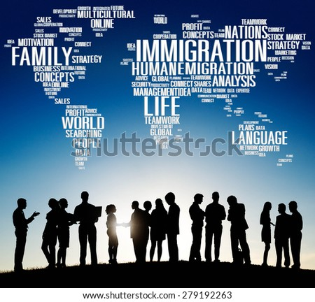 Immigration International Government Law Customs Concept - stock photo