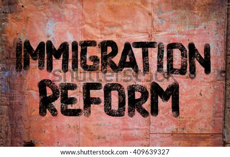 Immigration Reform Concept - stock photo