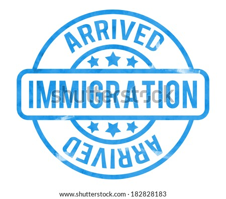 Immigration Stamp - stock photo