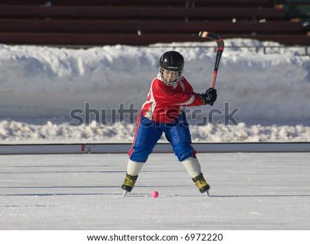 Impact on a ball. Rusbandy - stock photo