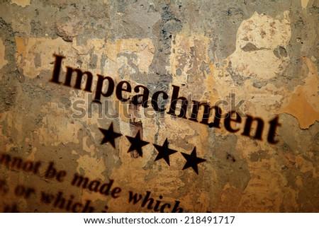 Impeachment - stock photo