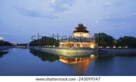 Imperial Palace in Beijing turret  - stock photo