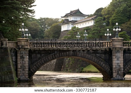 Imperial Palace in  Tokyo, Japan - stock photo
