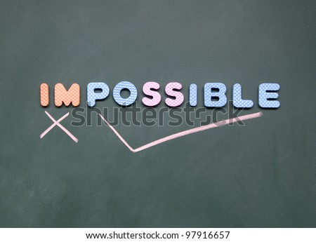 impossible and possible sign - stock photo