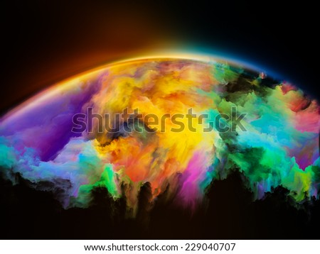 Impossible Dawn series. Abstract design made of colors and gradients on the subject of art, creativity, imagination and design - stock photo