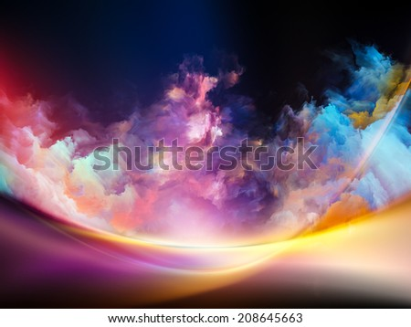 Impossible Dawn series. Artistic background made of colors and gradients for use with projects on art, creativity, imagination and design - stock photo