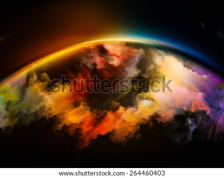 Impossible Dawn series. Composition of colors and gradients on the subject of art, creativity, imagination and design - stock photo