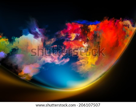 Impossible Dawn series. Design composed of colors and gradients as a metaphor on the subject of art, creativity, imagination and design - stock photo