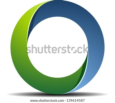 Impossible ring sign - stock photo
