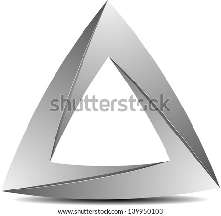 Impossible triangle - stock photo