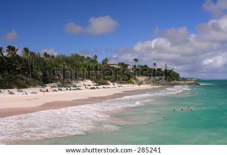 Impressions from Crane Beach / Barbados - stock photo