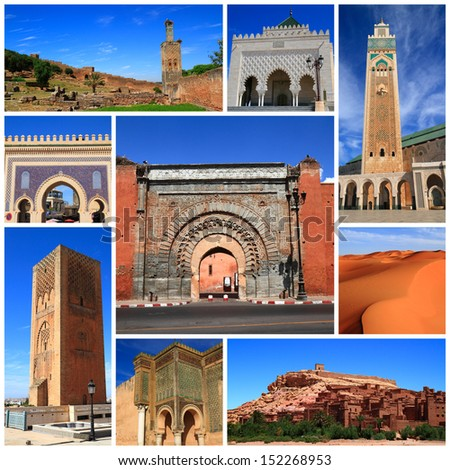 Impressions of Morocco, Collage of Travel Images - stock photo