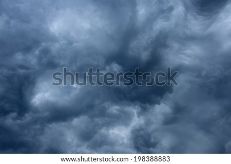 impressive pattern of clouds before a rain - stock photo