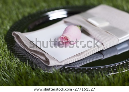 impressive wedding objects in different concept - stock photo
