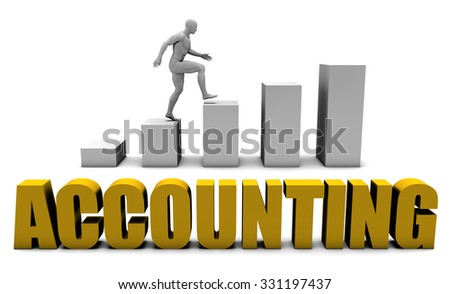Improve Your Accounting  or Business Process as Concept - stock photo