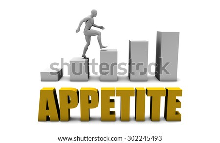 Improve Your Appetite  or Business Process as Concept - stock photo