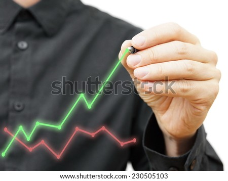 Improvement in business model concept, - stock photo