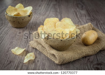 in a bowl on a wooden background - stock photo