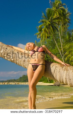 In a Coconut Grove Hot Blonde  - stock photo