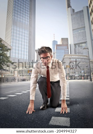 in a competitive world - stock photo
