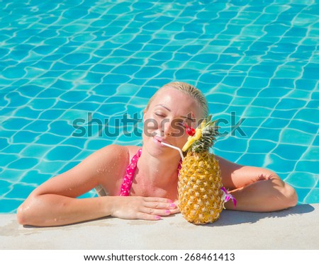 In a Pool In Luxury  - stock photo