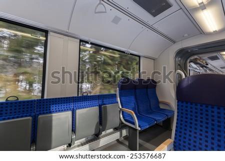 in a train - stock photo