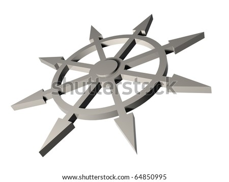 in all directions - stock photo