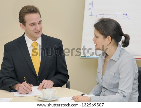 In an office - stock photo