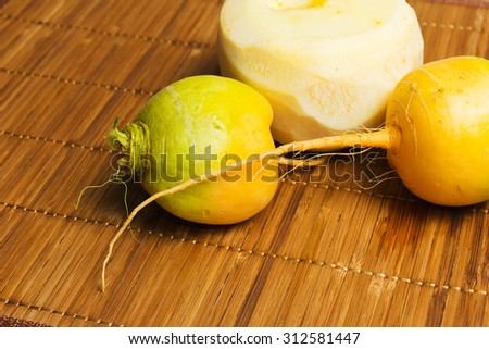 In ancient Russia turnip was the most important product. - stock photo