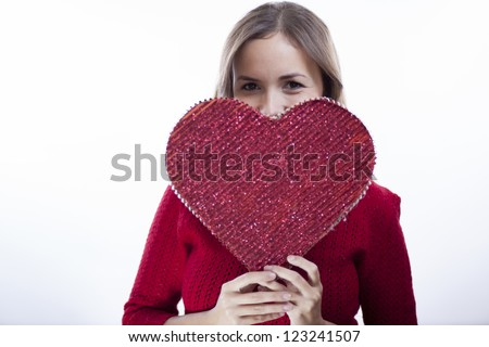In love on valentine's day - stock photo