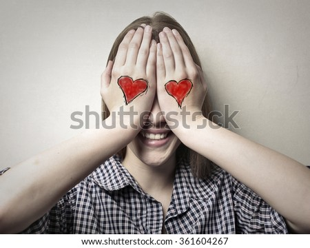 In love woman - stock photo