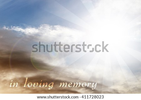 In Loving Memory Mourning Background - stock photo