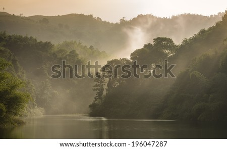 in morning winter - stock photo