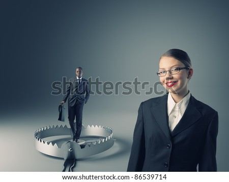 in my trap - stock photo