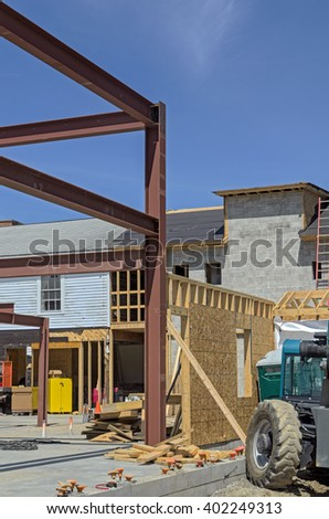 In Process of Constructing New Building - stock photo