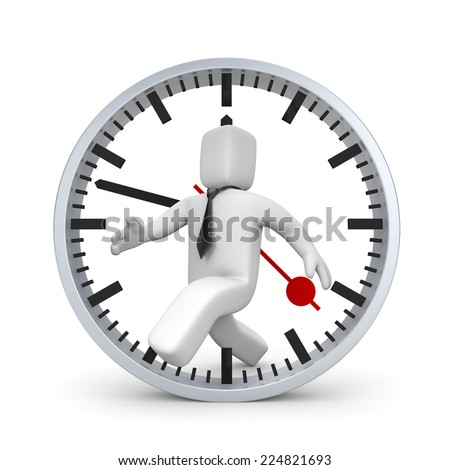 In pursuit of time - stock photo