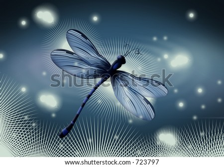In the Beginning. Creation of flying creatures. - stock photo