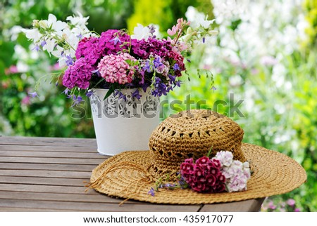 in the garden - stock photo