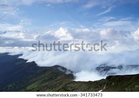 In the mountain of Pop Ivan - stock photo
