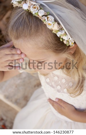 In the name of the Father, the Son and the Holy Spirit, Amen - stock photo