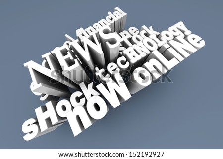 In the News. 3D Illustration. - stock photo