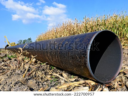 In the pipeline repairs  - stock photo