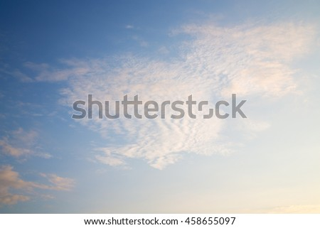in the sky of world cloudy fluffy    cloudscape - stock photo