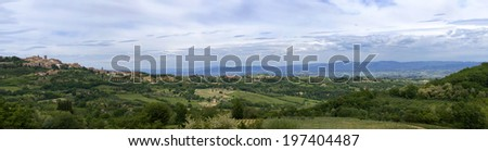 In the vicinity of the city of Monticello, Tuscany, Italy - stock photo