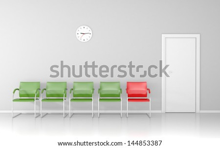 In the waiting room. Who is next? - stock photo