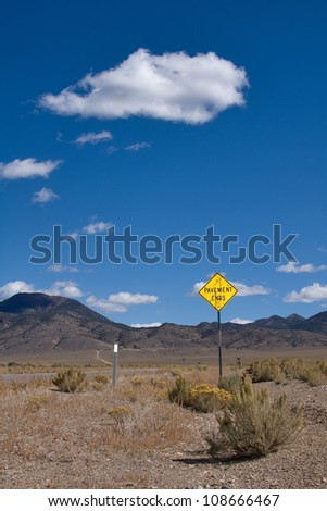 In the wilderness, Nevada - stock photo