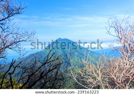 inactive volcanoes at java indonesia - stock photo