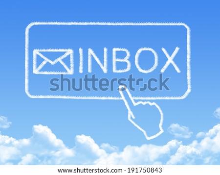 Inbox message cloud shape - stock photo